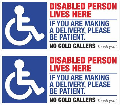 Picture of Disabled Person Lives Here Decals / Stickers