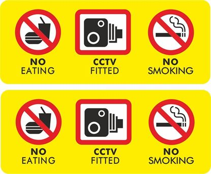 Picture of No Eating, Smoking, CCTV Decals / Stickers