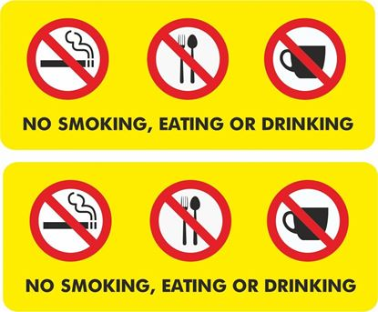 Picture of No Smoking, Eating, Drinking Decals / Stickers