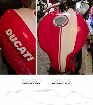 Picture of Ducati Monster 821/1200  2016 replacement Tank Decals / Stickers
