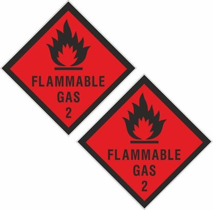 Picture of Flammable Gas 2 Decals / Stickers