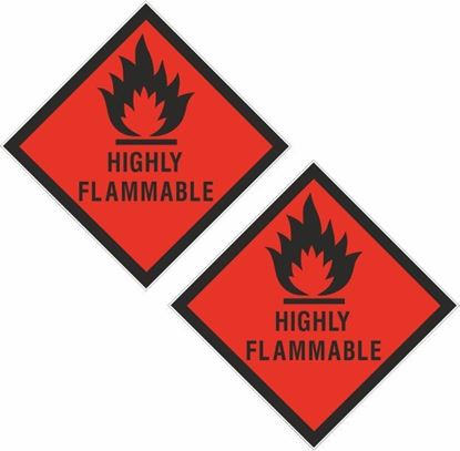 Picture of Highly Flammable Decals / Stickers