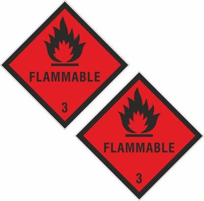 Picture of Flammable 3 Decals / Stickers