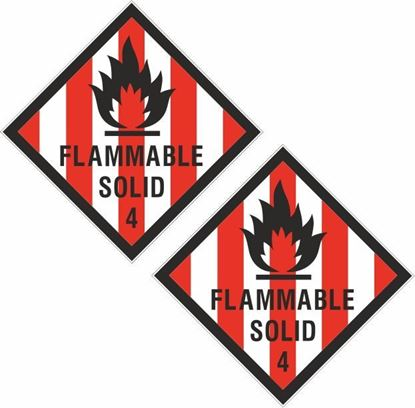Picture of Flammable Solid 4  Decals / Stickers