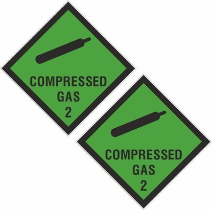 Picture of Compressed Gas 2 Decals / Stickers