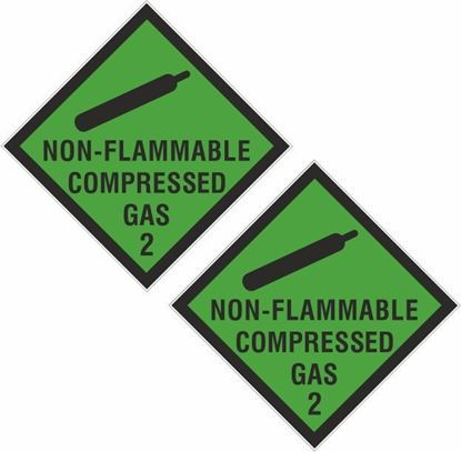 Picture of Non - Flammable Compressed Gas 2 Decals / Stickers