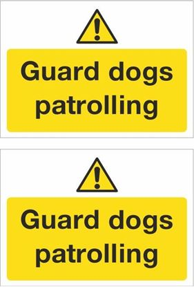 Picture of Guarding dogs patrolling Decals / Stickers