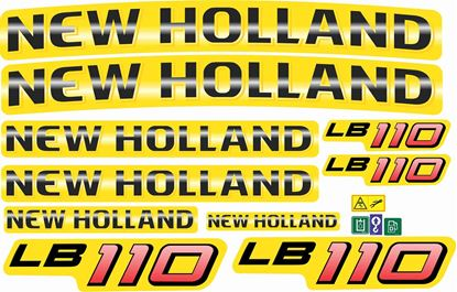 Picture of New Holland LB110 replacement Decals / Stickers