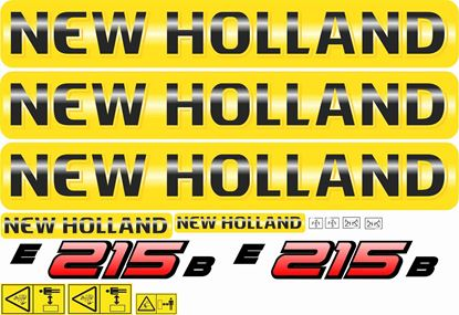 Picture of New Holland E215B replacement Decals / Stickers