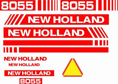 Picture of New Holland 8055 replacement Decals / Stickers