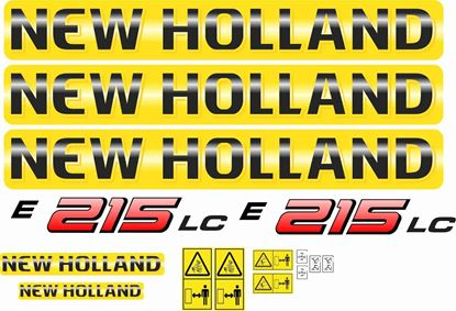 Picture of New Holland E215LC replacement Decals / Stickers