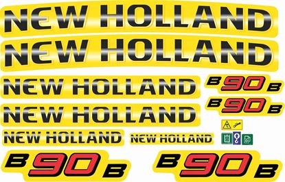 Picture of New Holland B90B replacement Decals / Stickers