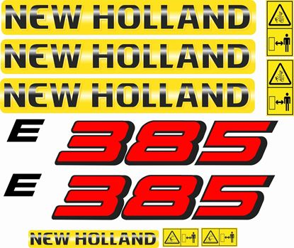 Picture of New Holland E385 replacement Decals / Stickers
