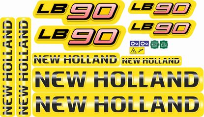 Picture of New Holland LB90 replacement Decals / Stickers