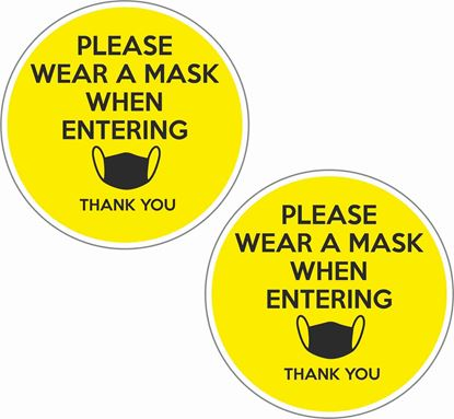 Picture of Please Wear A Mask When Entering Decals / Stickers