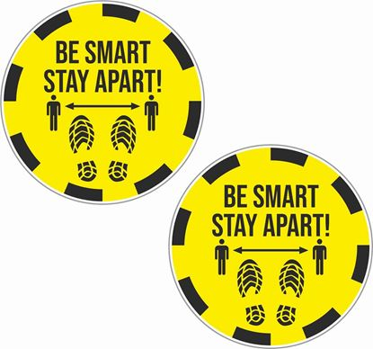 Picture of Be Smart Stay Apart Decals / Stickers