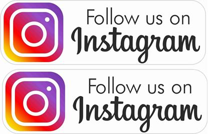 Picture of Follow us on Instagram Decals / Stickers