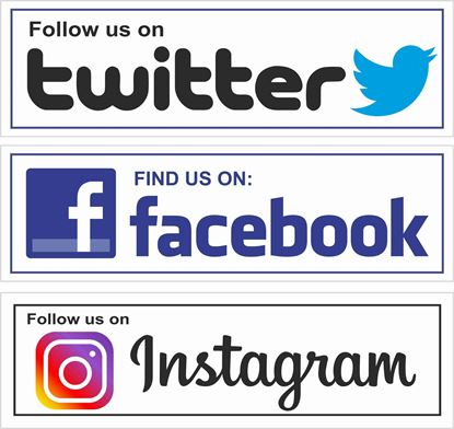 Picture of Twitter / Facebook / Instagram Decals / Stickers