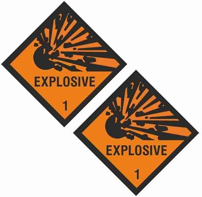 Picture of Explosive 1 Decals / Stickers
