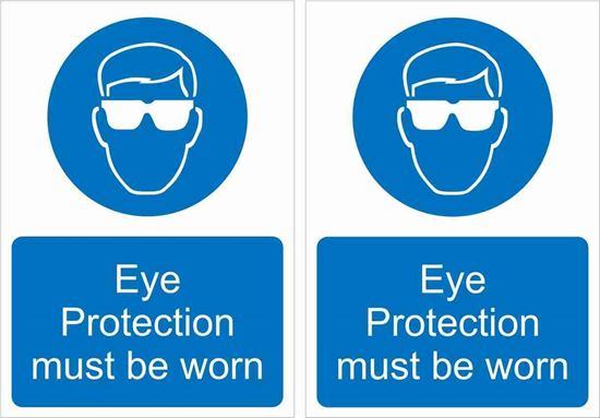 Picture of Eye Protection must be worn Decals / Stickers