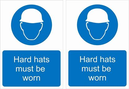Picture of Hard hats must be worn Decals / Stickers