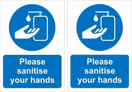 Picture of Please sanitise your hands Decals / Stickers