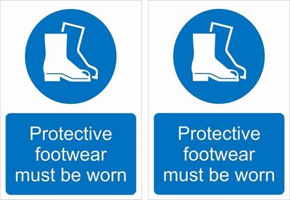 Picture of Protective footwear must be worn Decals / Stickers