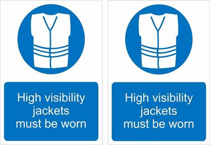 Picture of High Visibility jackets must be worn Decals / Stickers
