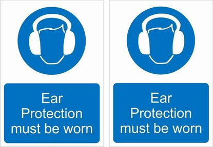 Picture of Ear protection must be worn Decals / Stickers