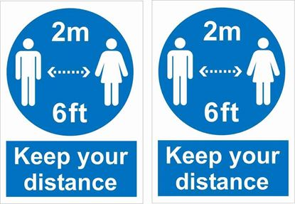 Picture of Keep your Distance Decals / Stickers
