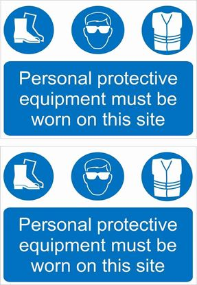 Picture of Personal protective equipment must be worn on this site Decals / Stickers