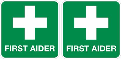 Picture of First Aider Decals / Stickers