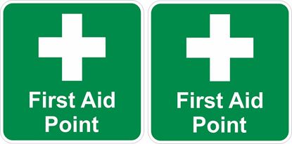 Picture of First Aid Point Decals / Stickers