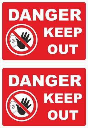 Picture of Danger keep Out Decals / Stickers