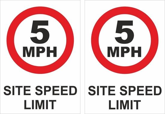 Picture of 5 mph Site speed limit Decals / Stickers