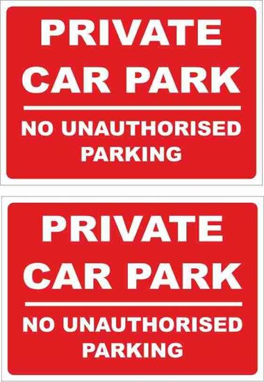 Picture of Private Car Park no unauthorised parking Decals / Stickers