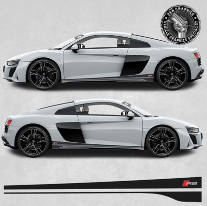 Picture of R8 Audi Sport side Stripes