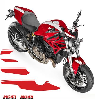 Picture of Ducati Monster 821/1200 2016 full replacement Decals / Stickers