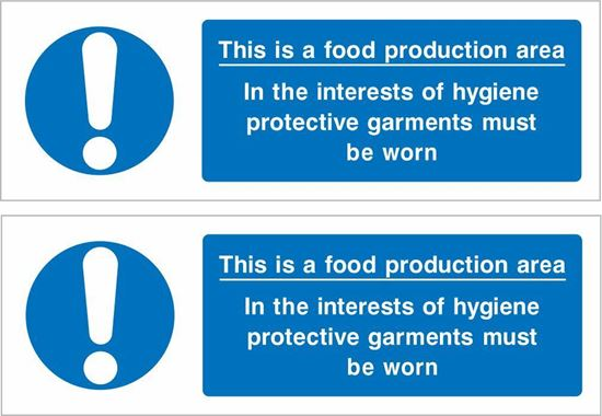 Picture of This is a Food Production Area Decals / Stickers