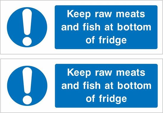 Picture of Keep raw meats and Fish... Decals / Stickers