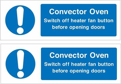 Picture of Convector oven.. Decals / Stickers