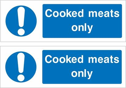Picture of Cooked meats only Decals / Stickers