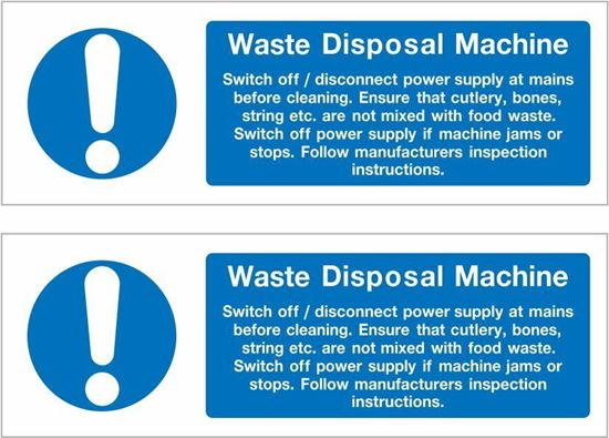 Picture of Waste Disposal Machine Decals / Stickers