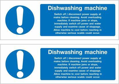 Picture of Dishwashing Machine Decals / Stickers