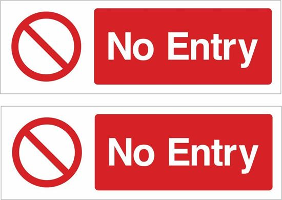 Picture of No entry Decals / Stickers