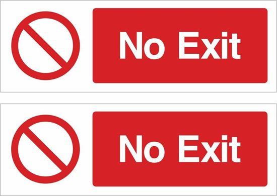 Picture of No exit Decals / Stickers
