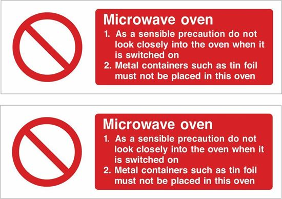 Picture of Microwave oven Decals / Stickers
