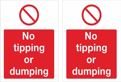 Picture of No tipping or dumping Decals / Stickers