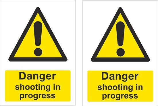 Picture of Danger shooting in progress Decals / Stickers