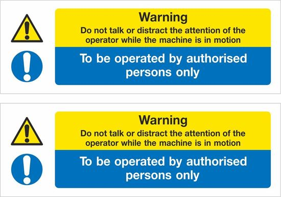 Picture of To be operated by authorised persons only Decals / Stickers